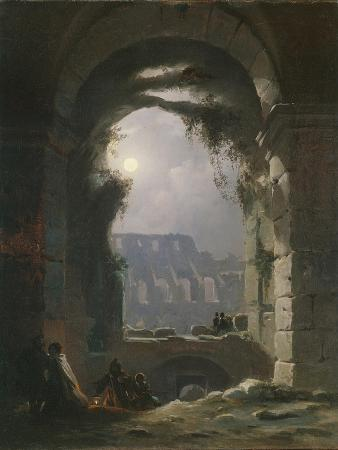 carl-gustav-carus-the-colosseum-in-the-night-early-1830s