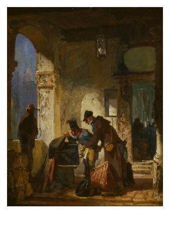 carl-spitzweg-customs-examination-about-1855