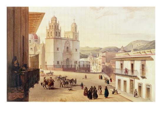 carlos-nebel-plaza-mayor-de-guonajuato-coloured-engraving