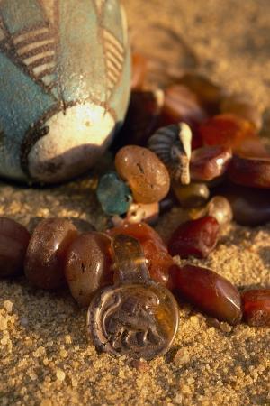 carnelian-necklace-pendant-with-lion-valley-of-golden-mummies-bahariya-oasis-giza-egypt