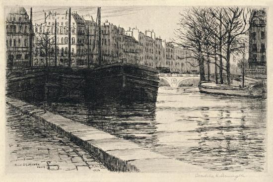 caroline-helena-armington-the-pont-st-michel-1915