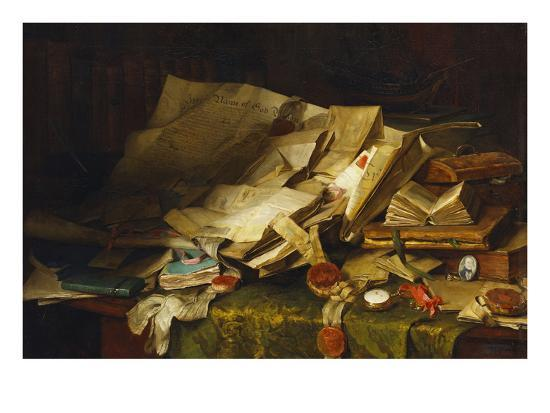 catherine-wood-still-life-books-and-papers-on-a-desk