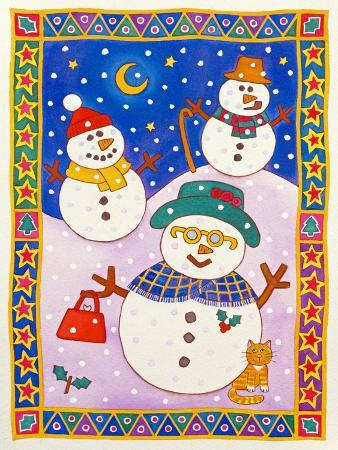 cathy-baxter-snowmen-in-the-snow