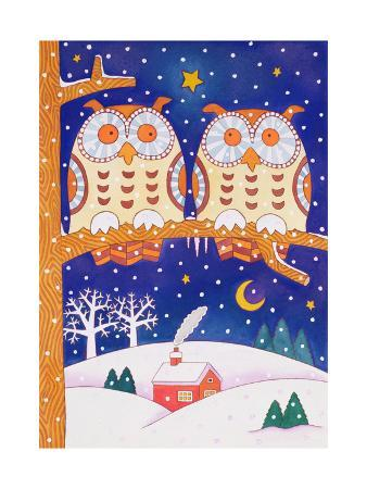 cathy-baxter-two-owls-on-a-branch