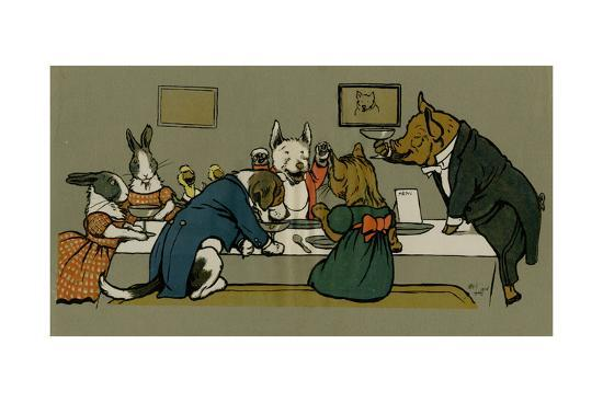 cecil-aldin-hungry-peter-the-pig-s-dinner-party