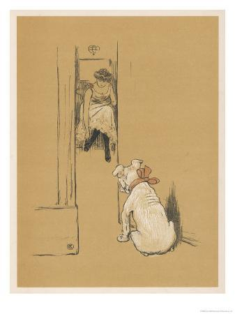 cecil-aldin-white-bulldog-guards-his-master-s-friend-pammy-while-she-changes-her-clothes