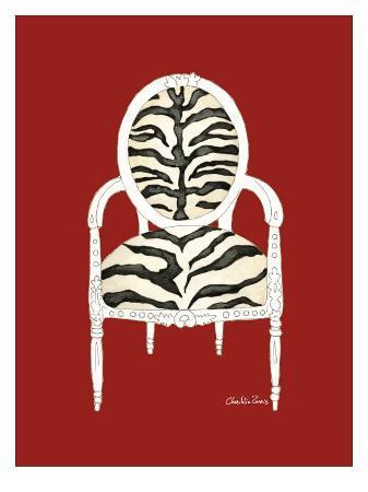 chariklia-zarris-zebra-chair-on-red