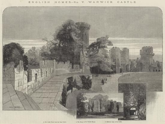 charles-auguste-loye-english-homes-warwick-castle