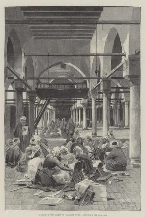 charles-auguste-loye-interior-of-the-mosque-of-el-azhar-cairo-discussing-the-campaign