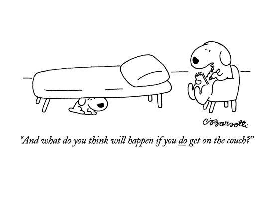 charles-barsotti-and-what-do-you-think-will-happen-if-you-do-get-on-the-couch-new-yorker-cartoon