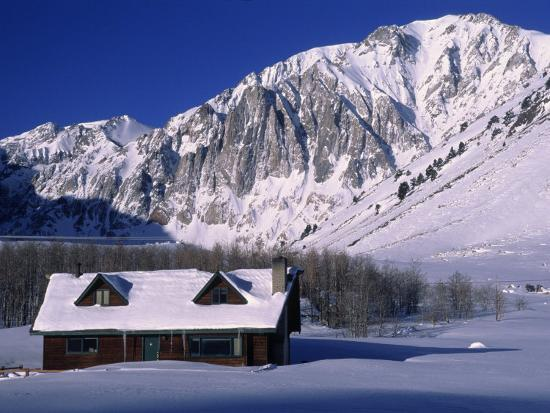 charles-benes-cabin-in-snow-convict-lake-sierra-nv-mts-ca