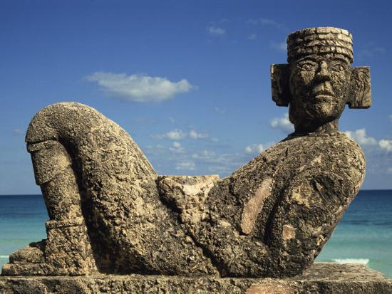 charles-bowman-statue-of-chac-mool-cancun-quitana-roo-mexico-north-america