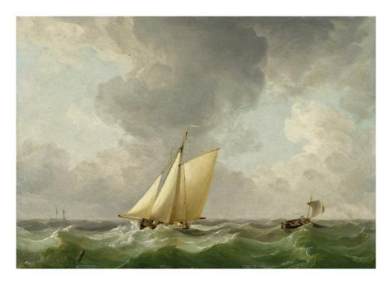 charles-brooking-a-cutter-in-a-strong-breeze-oil-on-copper