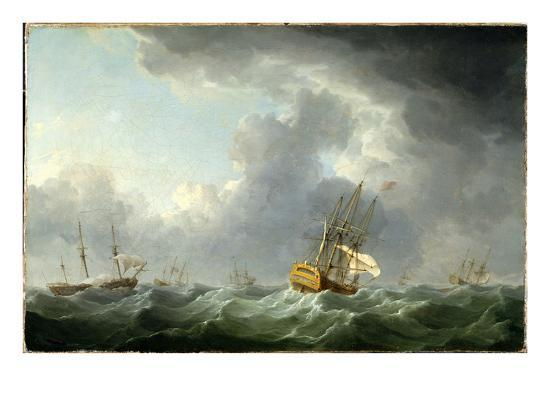 charles-brooking-english-ships-running-before-a-gale