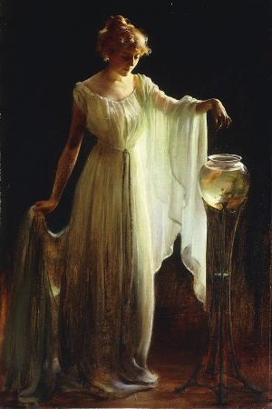 charles-courtney-curran-the-goldfish-1911