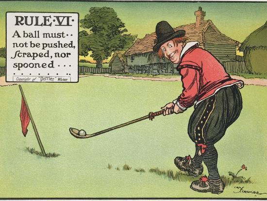 charles-crombie-rule-vi-a-ball-must-not-be-pushed-scraped-nor-spooned-from-rules-of-golf-published-circa-1905