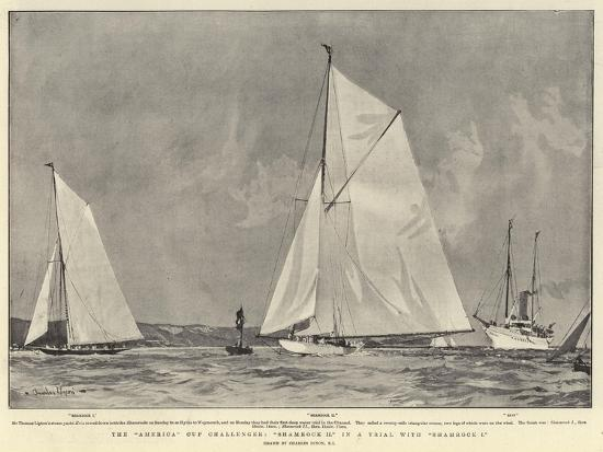 charles-edward-dixon-the-america-cup-challenger-shamrock-ii-in-a-trial-with-shamrock-i
