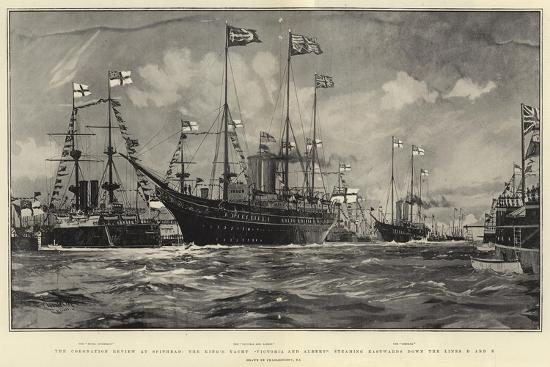charles-edward-dixon-the-coronation-review-at-spithead