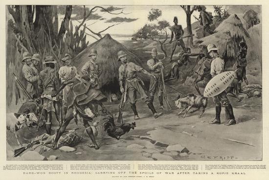 charles-edwin-fripp-hard-won-booty-in-rhodesia-carrying-off-the-spoils-of-war-after-taking-a-kopje-kraal