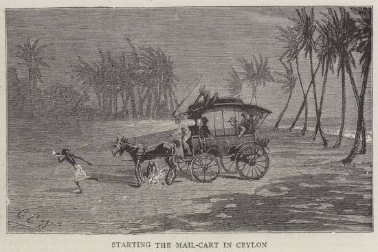 charles-edwin-fripp-starting-the-mail-cart-in-ceylon