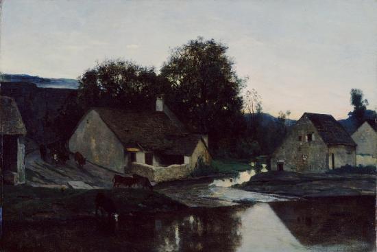 charles-francois-daubigny-the-hamlet-of-optevoz-c-1852