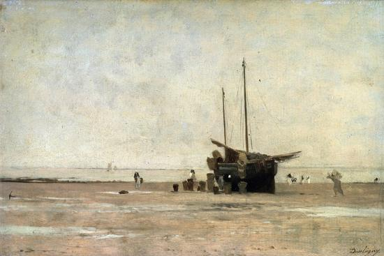 charles-francois-daubigny-the-seashore-end-of-the-1860s-early-1870s
