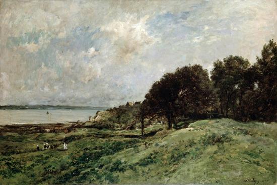 charles-francois-daubigny-the-seashore-near-villerville-1875
