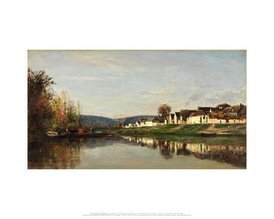 charles-francois-daubigny-the-village-of-gloton-1857