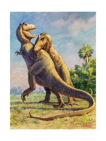 charles-knight-tyrannosaurus-rex-could-grow-to-be-twenty-feet-tall