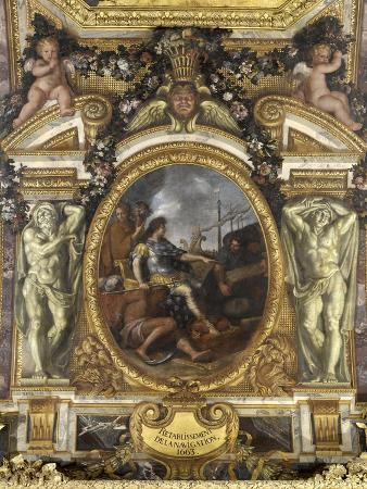charles-le-brun-ceiling-of-the-hall-of-mirrors-restoring-navigation