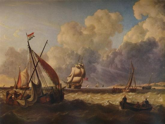 charles-martin-powell-fishing-boats-off-the-dutch-coast-1823