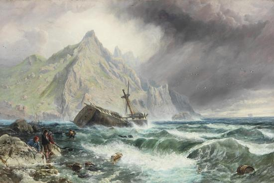 charles-napier-hemy-wreck-of-a-frigate-on-the-southern-coast-of-spain-1863