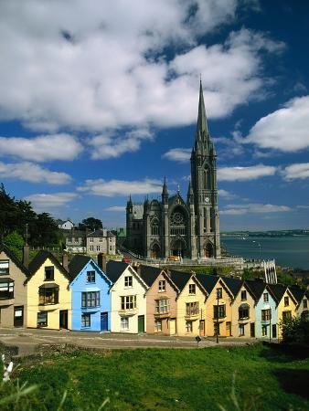 charles-o-rear-st-coleman-s-cathedral-of-cobh-behind-colorful-row-houses