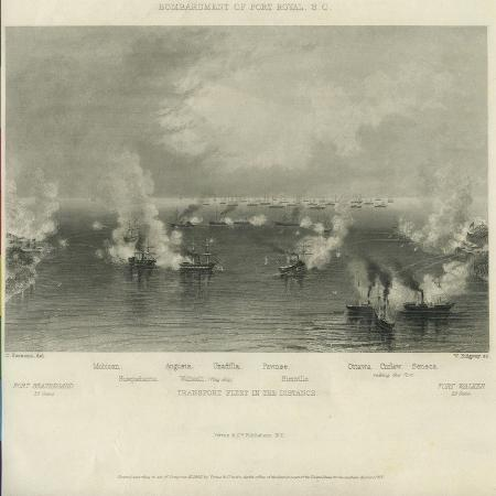 charles-parsons-bombardment-of-port-royal-s-c-c-1861