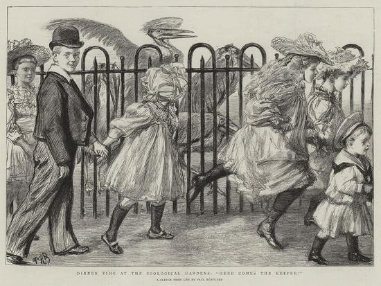 charles-paul-renouard-dinner-time-at-the-zoological-gardens-here-comes-the-keeper