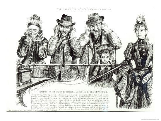 charles-paul-renouard-visitors-to-paris-exhibition-listening-to-the-phonograph-the-illustrated-london-news-1889
