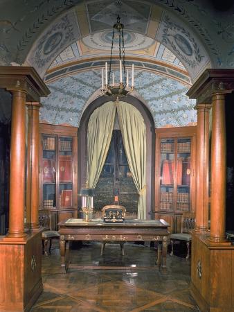 charles-percier-napoleon-bonaparte-s-study-c-1800