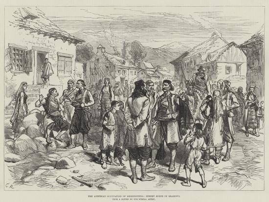 charles-robinson-the-austrian-occupation-of-herzegovina-street-scene-in-grahovo