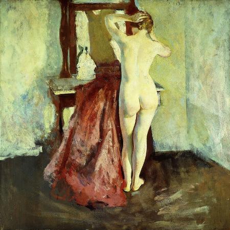 charles-webster-hawthorne-nude-before-mirror