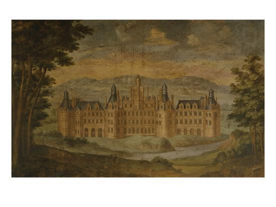 chateau-de-chambord-mural-painting-c-1680-85-italian-gallery-chateau-de-gizeux-touraine