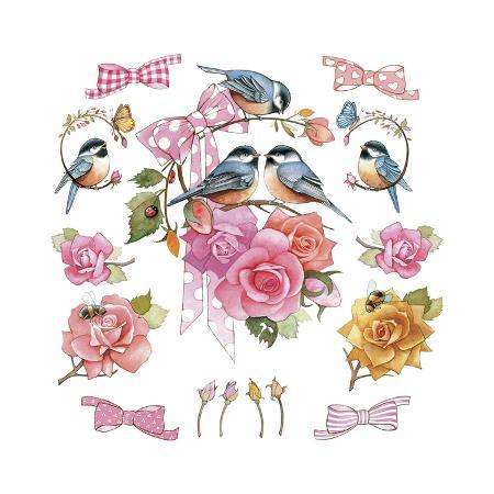 chick-on-rose