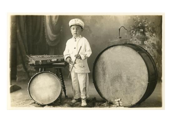 child-percussionist