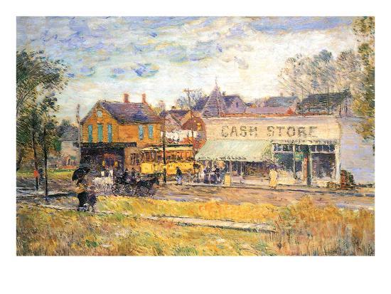 childe-hassam-end-of-the-tram-oak-park-illinois