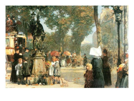childe-hassam-parisian-street-scene-1
