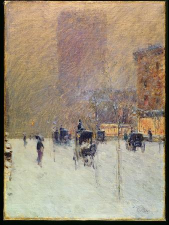 childe-hassam-winter-afternoon-in-new-york-1900