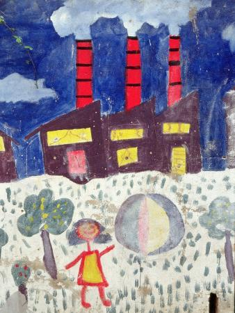 children-s-painting-of-poble-sec-power-station-on-a-street-wall