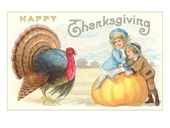 children-turkey-and-pumpkin