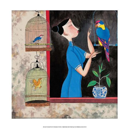 chinese-folk-art-girl-with-birdcages-in-the-window