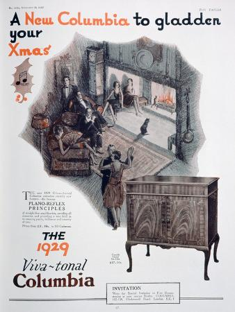 christmas-advert-for-columbia-gramophones-1928