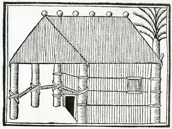 christopher-columbus-an-indian-habitation-from-la-historia-general-de-las-indias-1547
